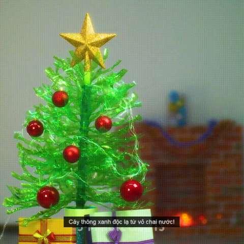 làm cây thông nhựa 9