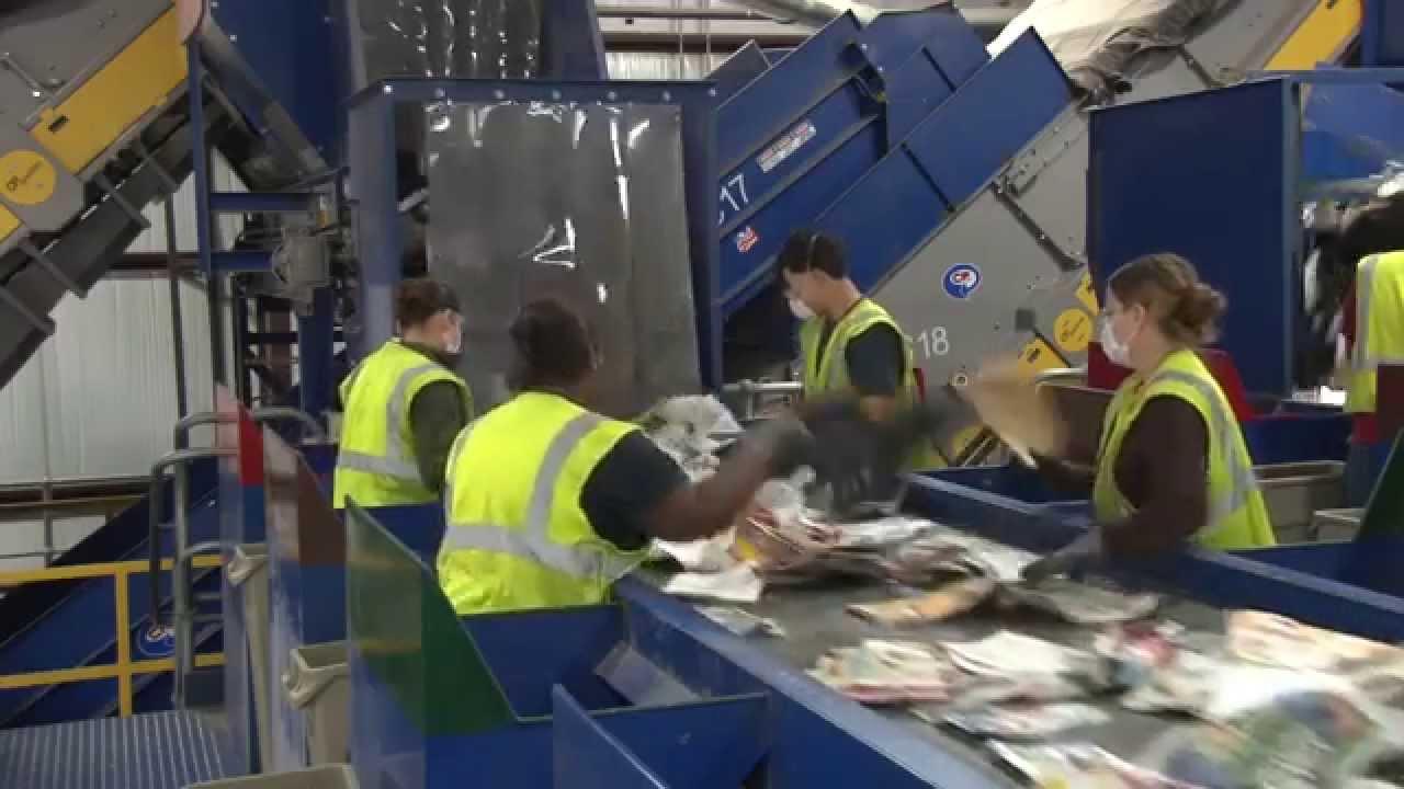 máy tái chế rác