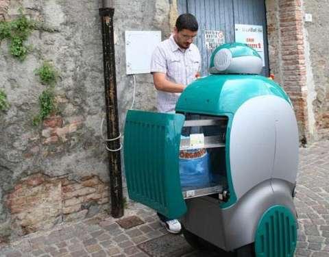 robot thu gom rác nhựa